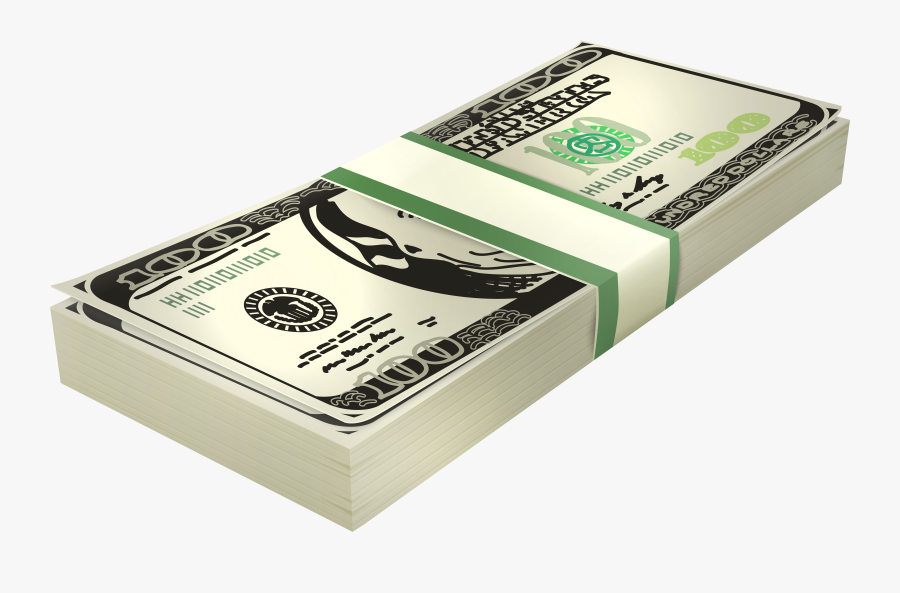 Stack Of 100 Us Dollar Banknotes Png Clipart - Us Dollar Clip Art, Transparent Clipart