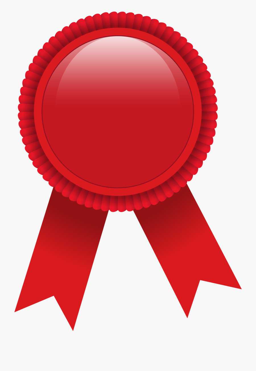Ribbon Award Red Clip Art - Red Prize Ribbon Png, Transparent Clipart