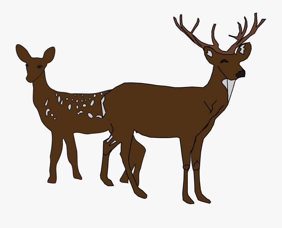Remix Big Image Png - White Tail Deer Clip Art, Transparent Clipart