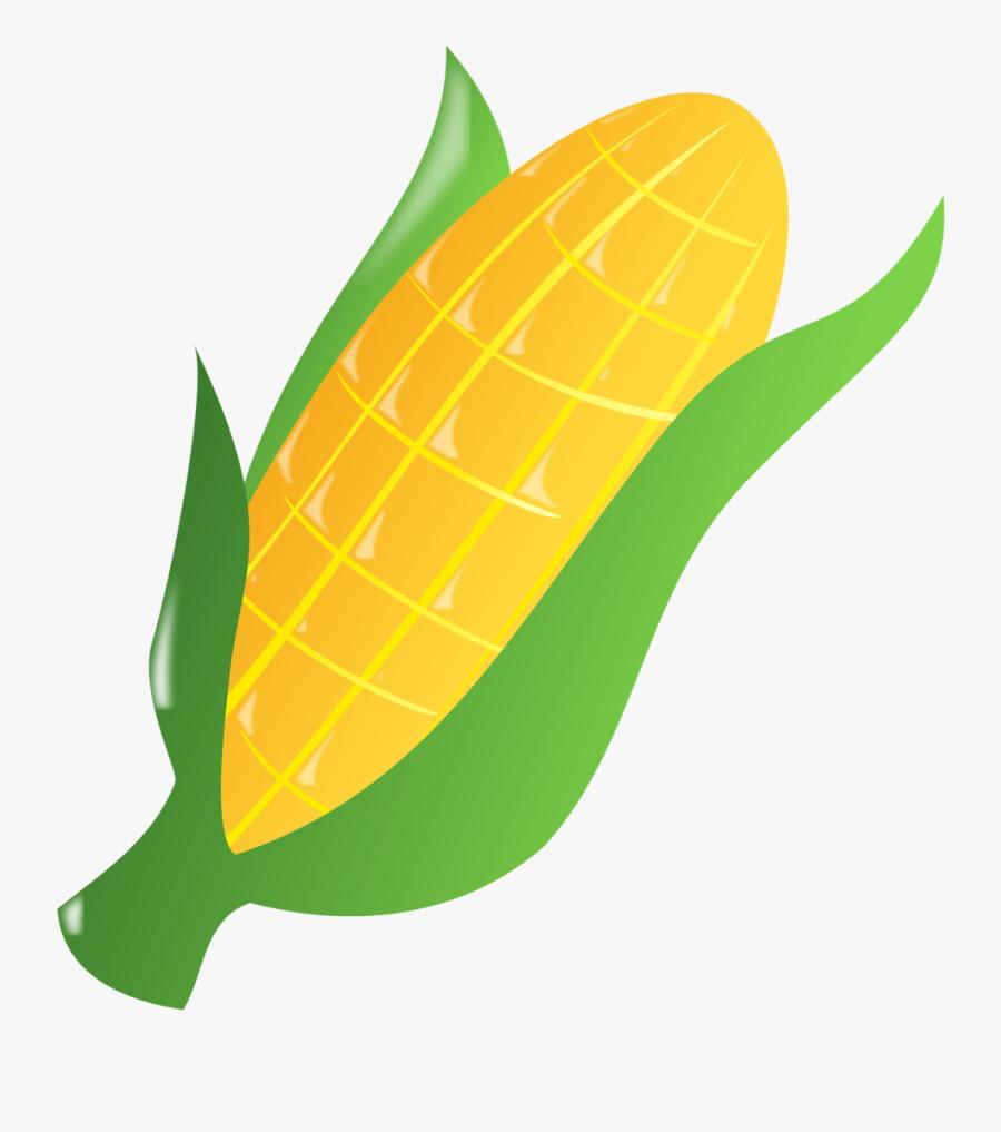 Corn Clipart Transparent Food - Ear Of Corn Clipart, Transparent Clipart