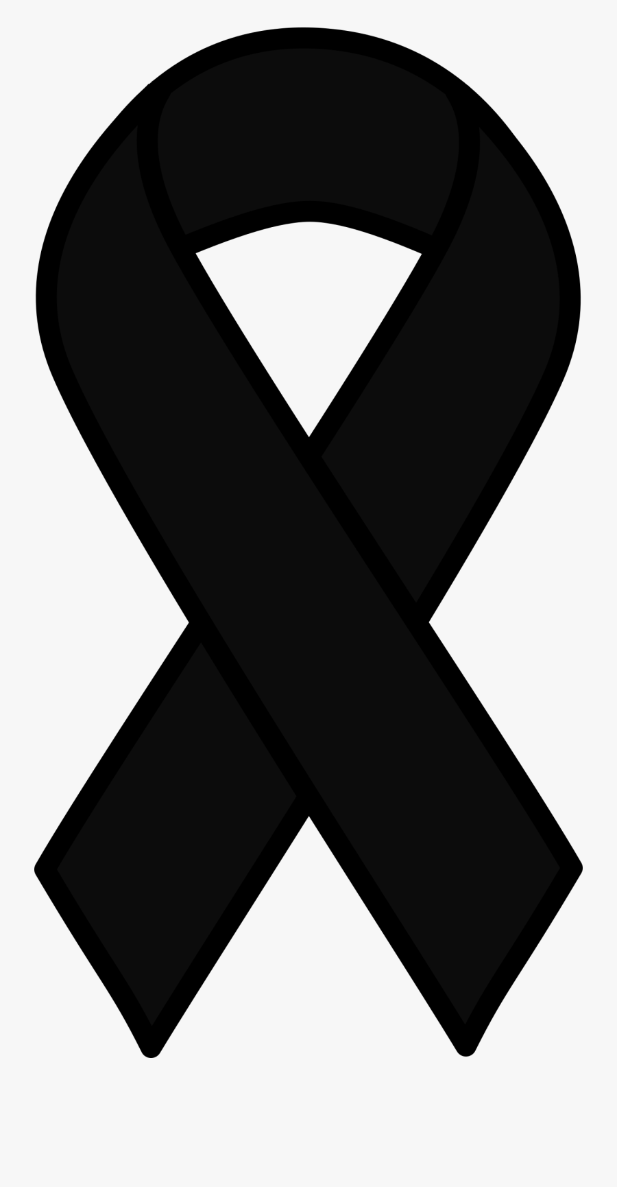 Black Melanoma Ribbon - Cancer Ribbon Clipart , Free ...