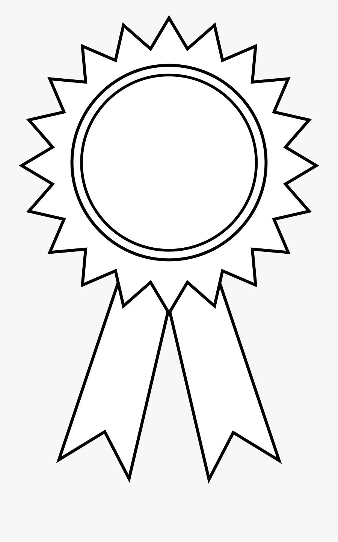 Prize - Clipart - Award Ribbon Outline, Transparent Clipart