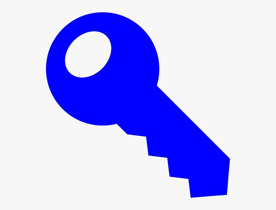 Small Blue Key Clipart - Blue Key Clip Art, Transparent Clipart