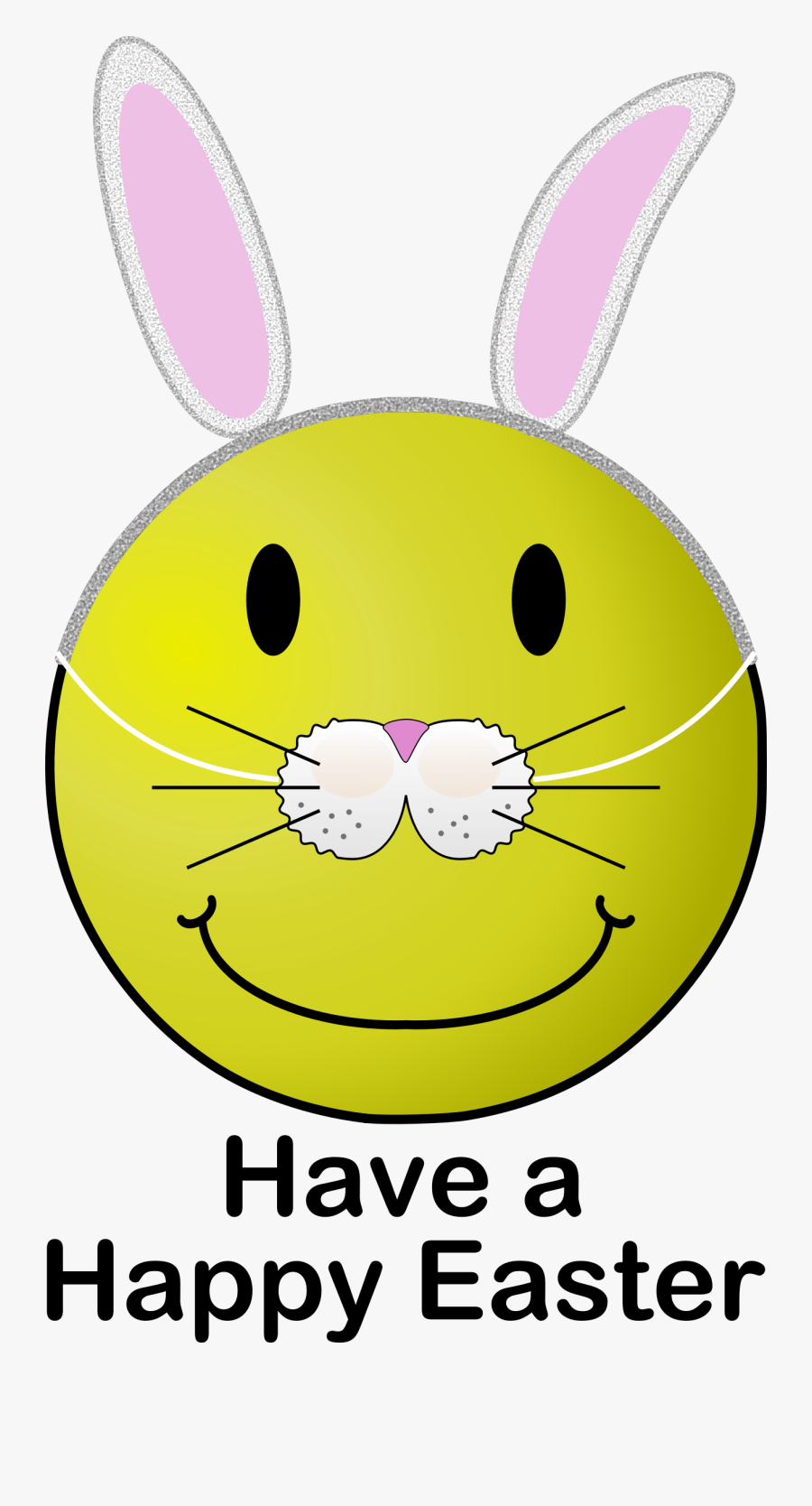 Emoticon,rabits And Hares,easter Bunny - Happy Easter Smiley Face, Transparent Clipart