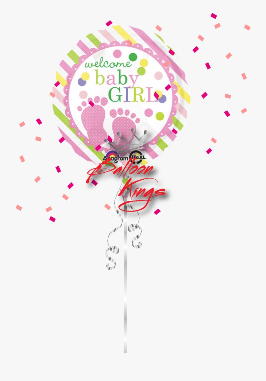 Baby Girl Feet Clip Art - Pink Baby Shower Welcome Baby Girl, Transparent Clipart