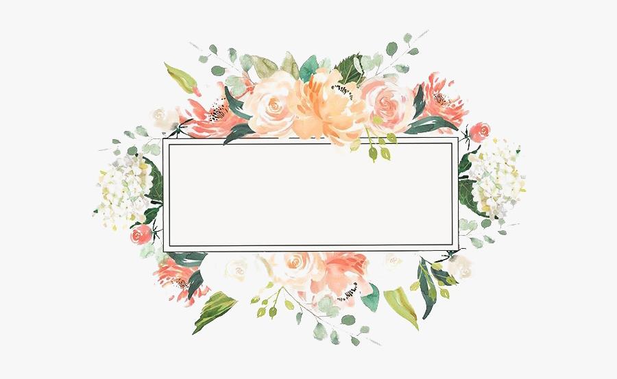 Floral Frame Png Clipart - Watercolor Flower Frame Png, Transparent Clipart