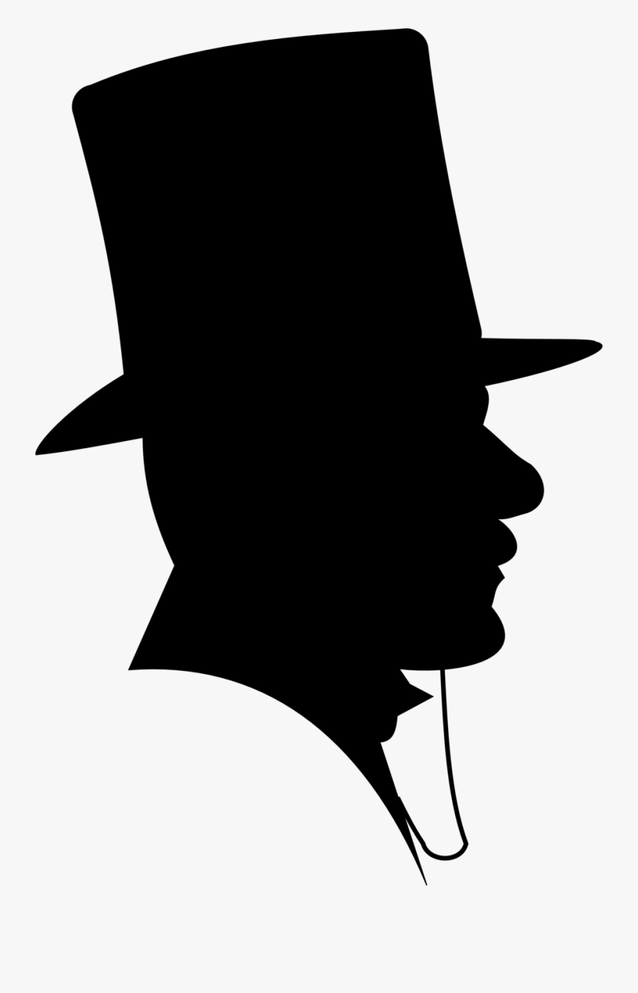 Summer Hat Clipart Fashion Trends - Man In Top Hat Silhouette, Transparent Clipart