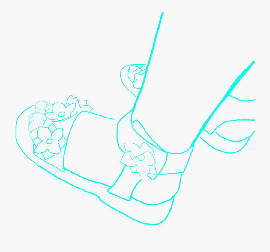 #freetoedit #feet #baby #babyfeet #draw #shoes #mydraw - Line Art, Transparent Clipart