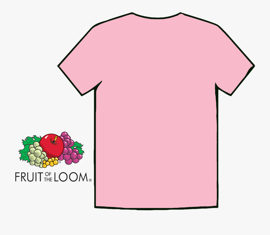 Transparent Black T Shirt Template Png - Pink T Shirt Template, Transparent Clipart