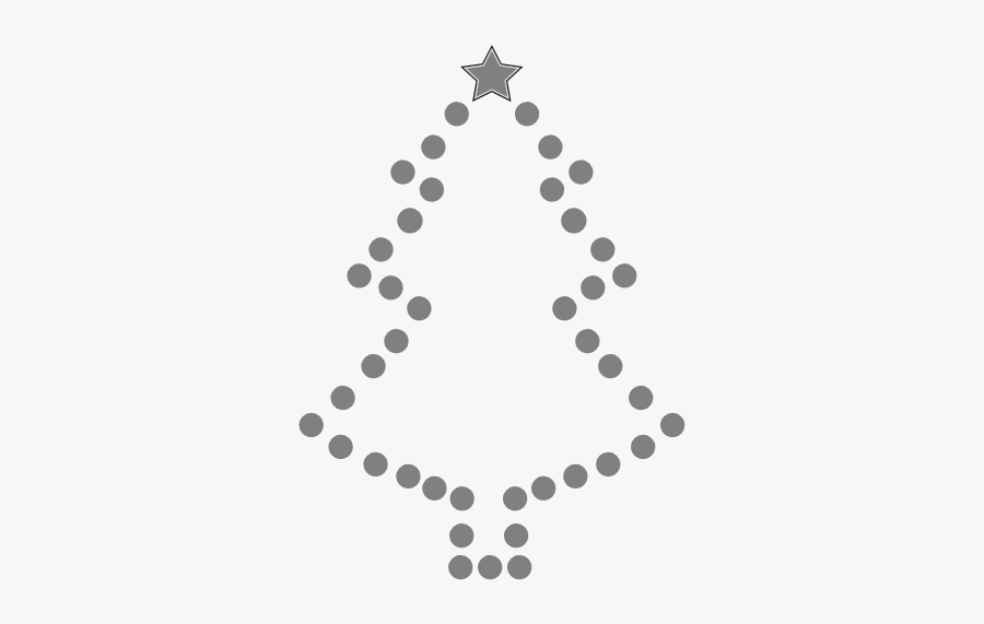 Christmas Tree Black And White Tree Cli Christmas Clipart - Christmas Black And White Christmas Tree, Transparent Clipart