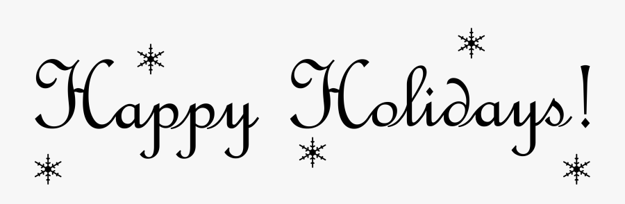 Pin By Rt Digital Media Marketing On Christmas Clip - Happy Holidays Text Png, Transparent Clipart