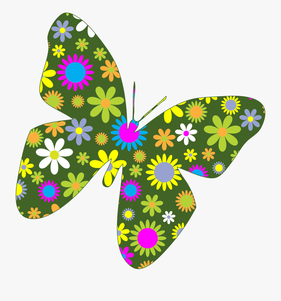 Thumb Image - Butterflies And Flowers Clipart, Transparent Clipart