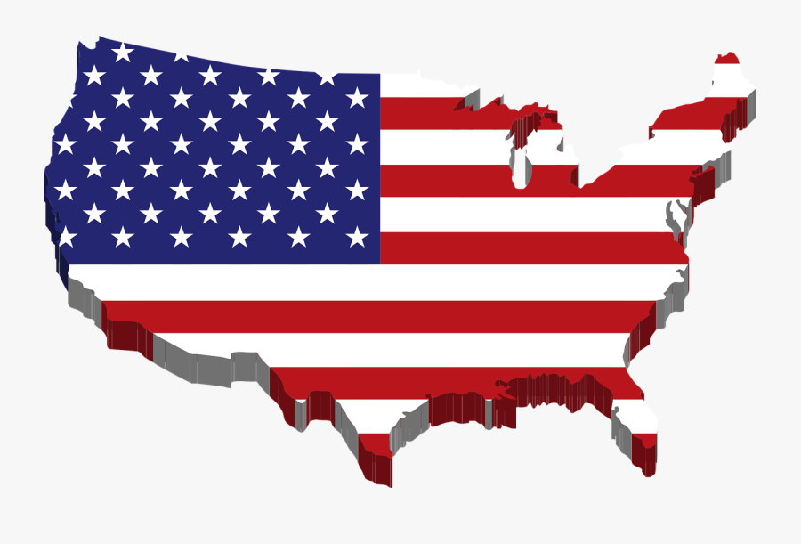 Us Flag American Flag Banner Clipart Free Images 2 - Usa Map Png 3d, Transparent Clipart