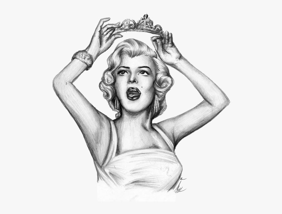 Clipart Black And White Library Drawing Photography - Marilyn Monroe Sketch Drawing, Transparent Clipart