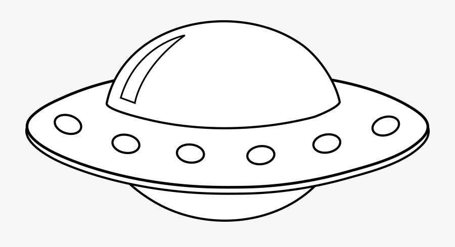 Thumb Image - Ufo Black And White Clipart, Transparent Clipart