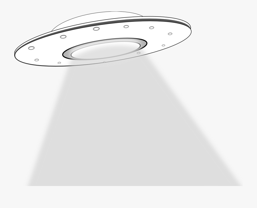 Ufo Alien Abduction Clipart Kid - Ufo Cartoon With Black Background, Transparent Clipart