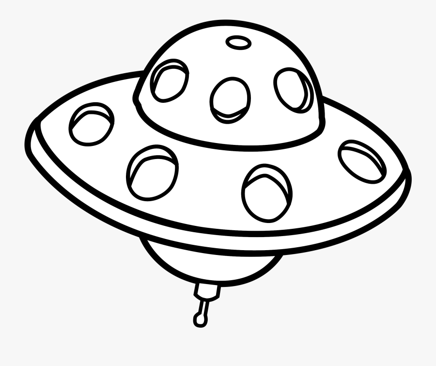 Drawn Clip Free On - Ufo Outline, Transparent Clipart
