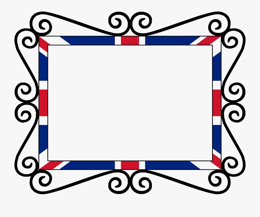 Uk Union Flag Frame Icons Png - Union Jack Page Border, Transparent Clipart