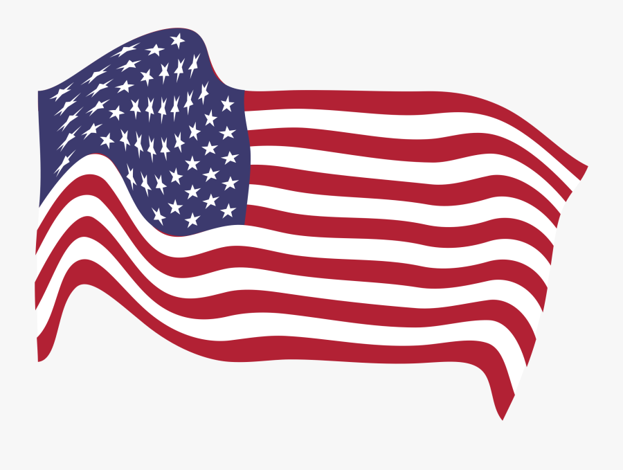 Clipart American Flag Breezy - American Flag Png Transparent, Transparent Clipart