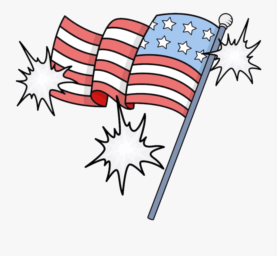 Transparent Us Flag Clipart Png - Transparent American Flag Cartoon, Transparent Clipart