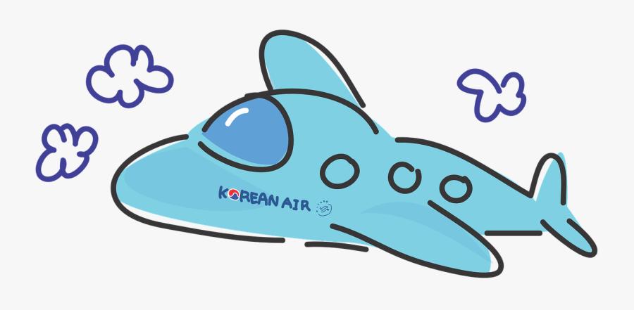 Korean Air Airplane Cartoon Clipart Png Download Korean Air