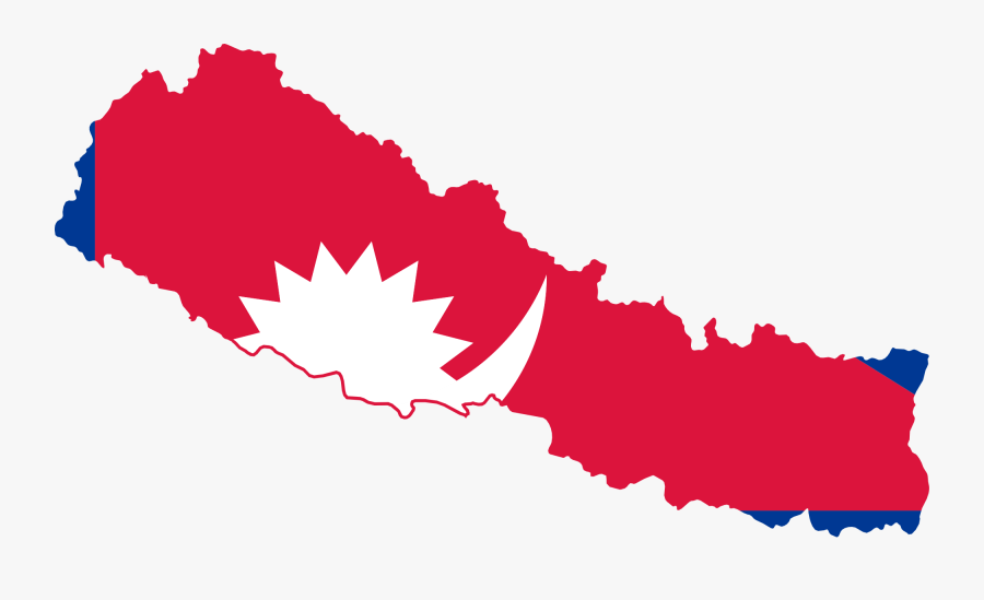 Nepal Flag And Map, Transparent Clipart