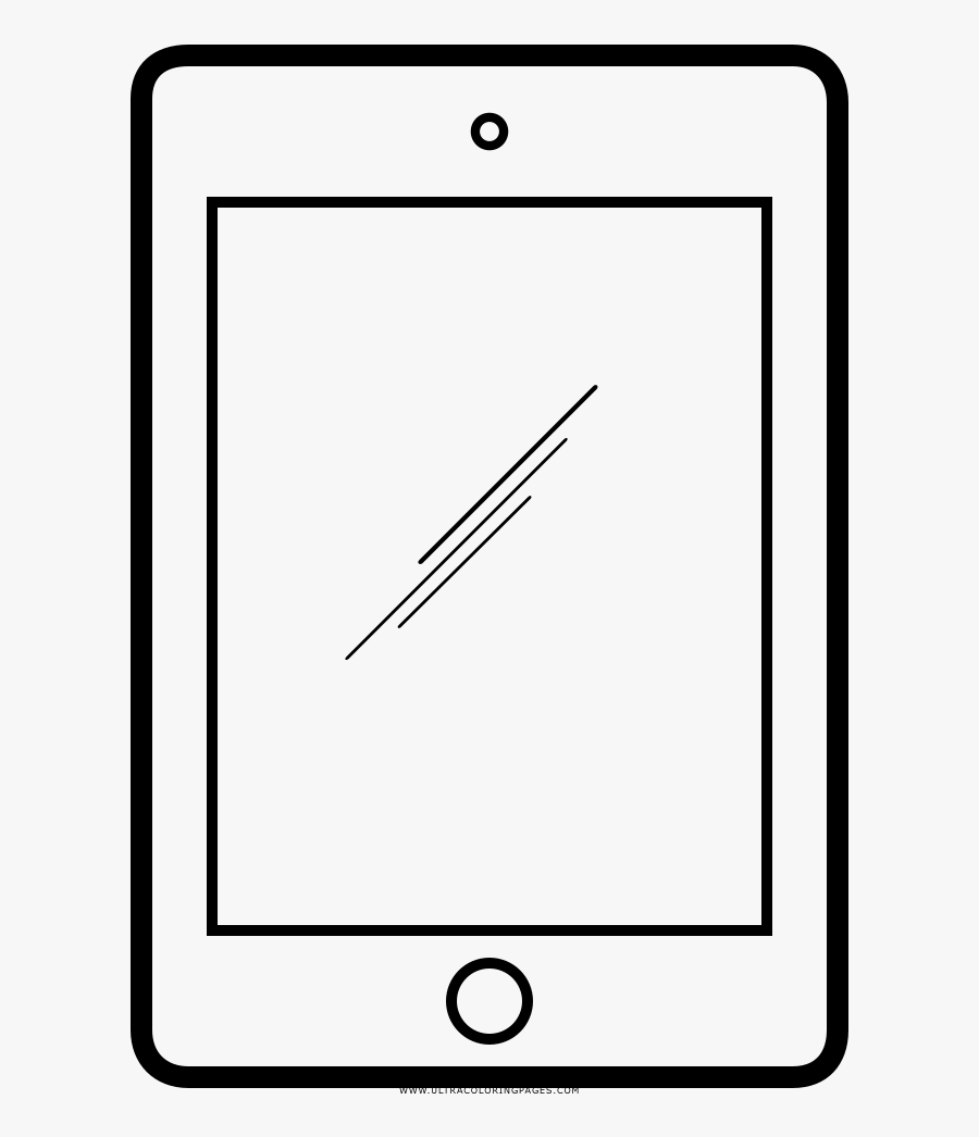Ipad Coloring Page Line Art Free Transparent Clipart Clipartkey