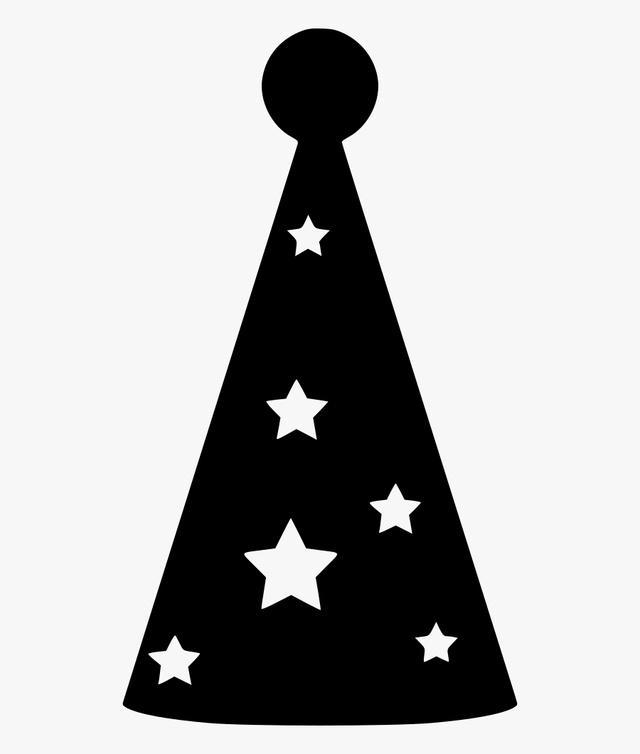 Transparent Party Hat Black And White Clipart - Christmas Tree Svg Free, Transparent Clipart