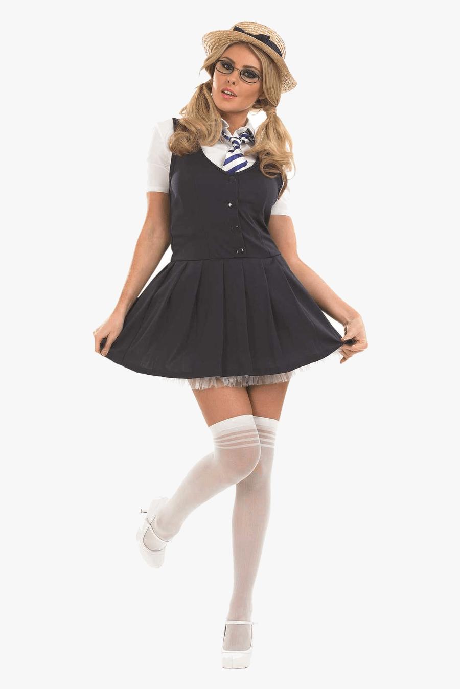 Clip Art Girl Disco Outfits - St Trinians School Girl Uniform, Transparent Clipart