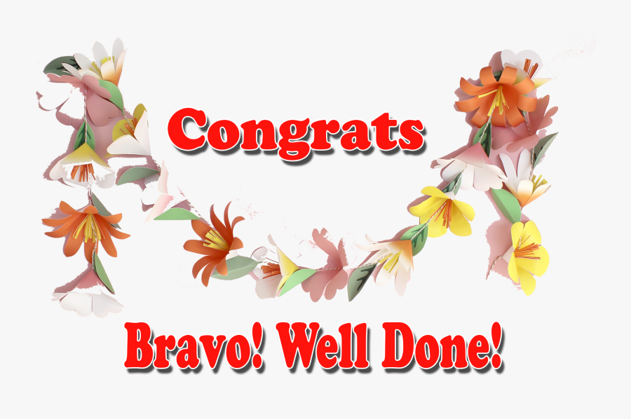 Congrats Bravo Well Done Png Transparent Image Free Transparent Clipart Clipartkey