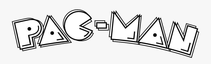 Pac Man Logo Black And White Pac Man Coloring Pages Free Transparent Clipart Clipartkey