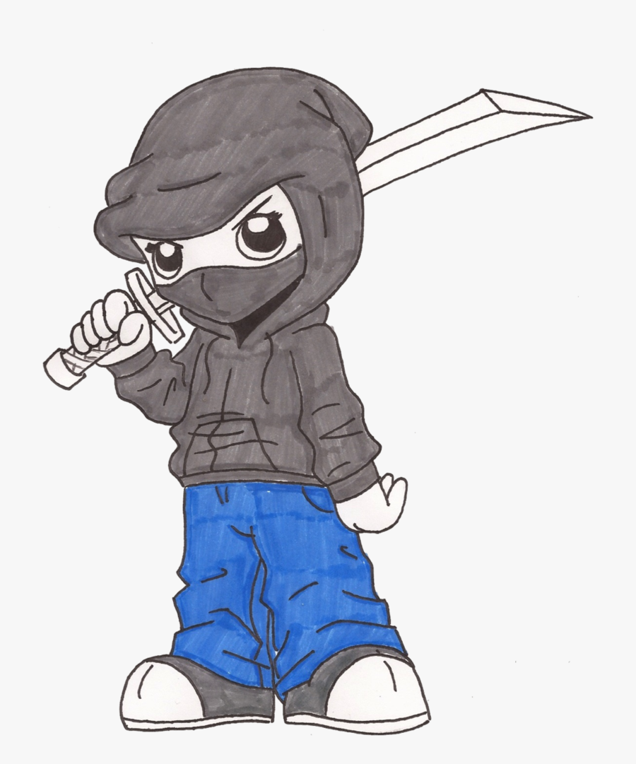 Easy Ninja Drawing At Getdrawings - Easy Drawings Of Ninjas, Transparent Clipart