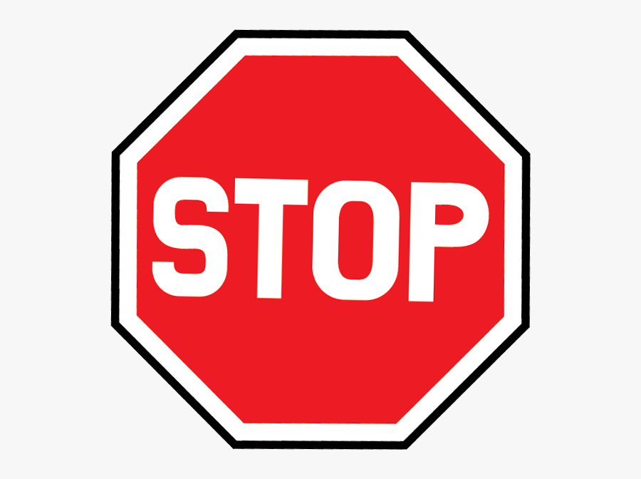 Clip Art Image Black And - Stop Signs, Transparent Clipart