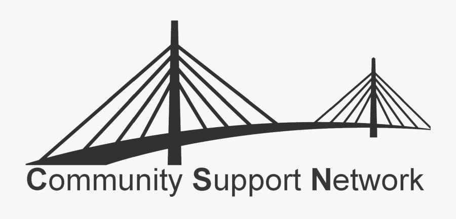 Community Support Network - Self-anchored Suspension Bridge, Transparent Clipart