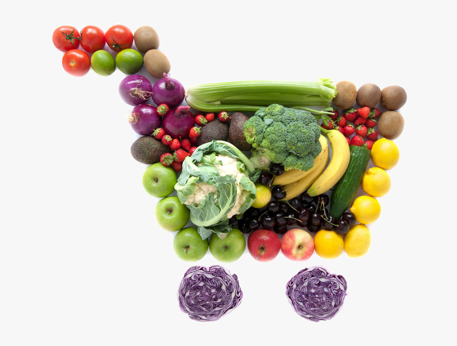 Online Shopping Fruits And Vegetables, Transparent Clipart