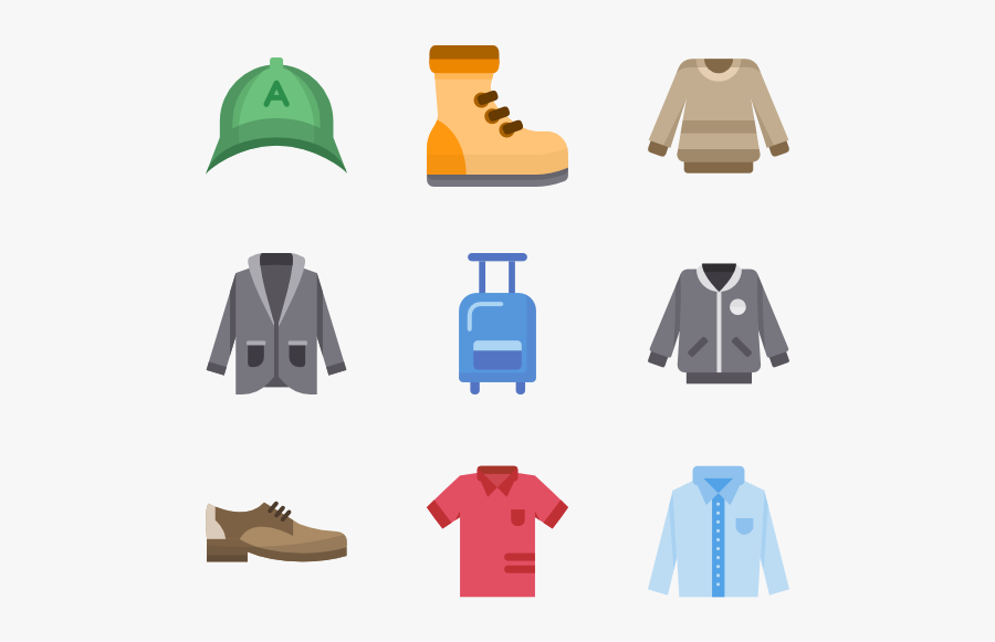 Clothing Clipart Colored Clothes - Vector Clothes Png Icon, Transparent Clipart