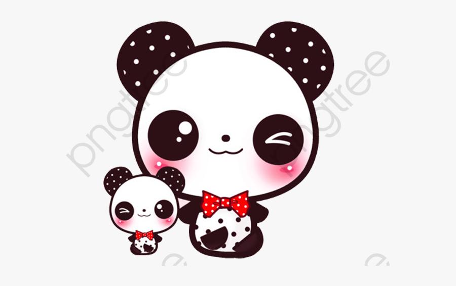 Transparent Panda Bamboo Clipart - Cartoon Kawaii Panda Cute, Transparent Clipart