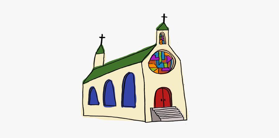 A Catholic Church - Child Art, Transparent Clipart