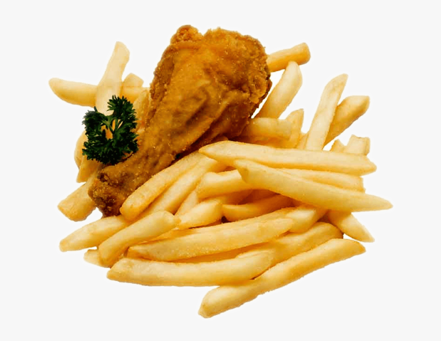 Fried Chicken And Chips, Transparent Clipart