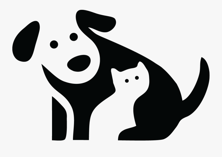 Animal Logos With Negative Space Clipart , Png Download - Dog And Cat Home Logo, Transparent Clipart