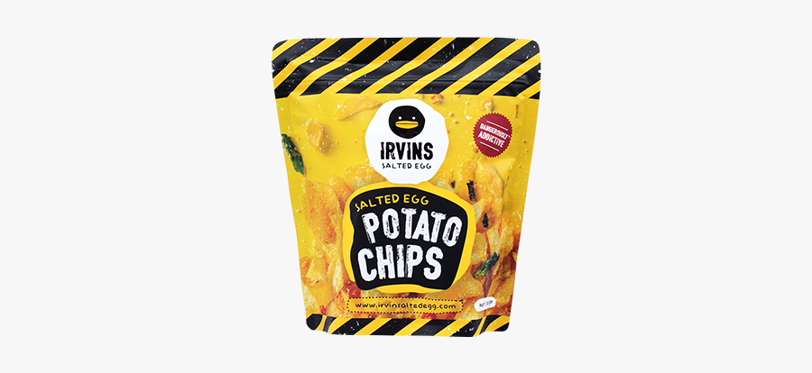 Irvins Dangerously Addictive Snacks - Salted Egg Yolk Chips Singapore, Transparent Clipart