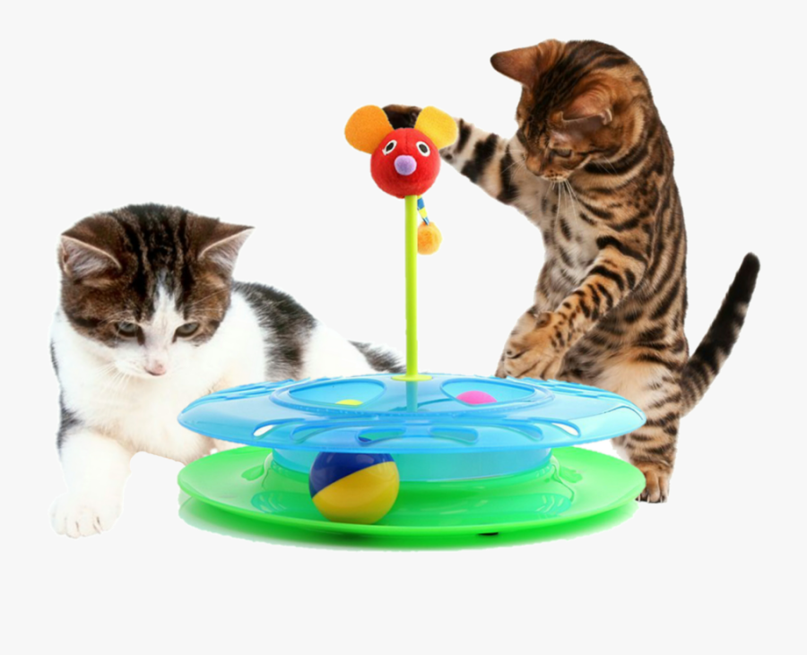 Clip Art Cat Playing With Ball - Cat Playing With Toy Transparent, Transparent Clipart
