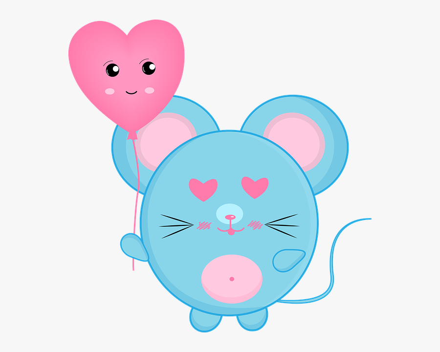mouse rat love heart valentine cute lovely  drawing