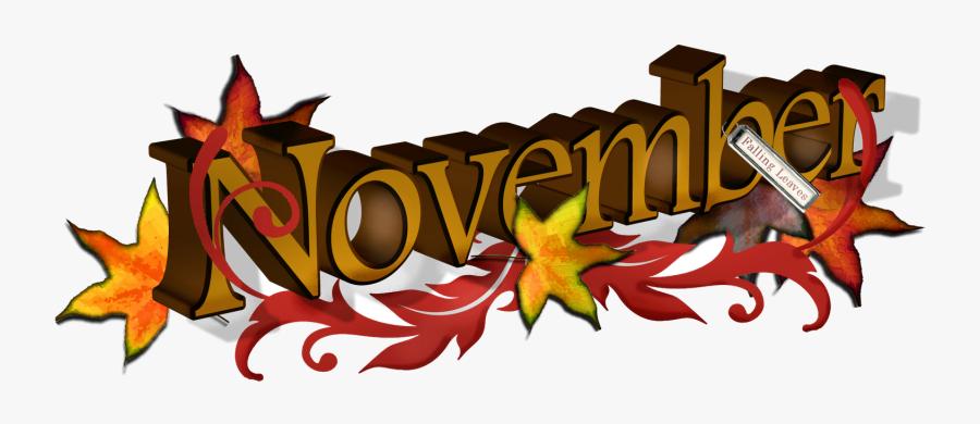 November Free Banner Cliparts Clip Art Transparent - November Clipart Free, Transparent Clipart