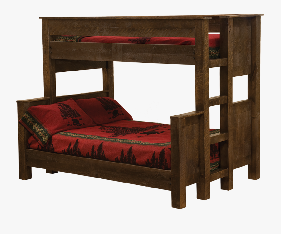 Transparent Rustic Wood Frame Png - Queen Twin Bunk Bed, Transparent Clipart