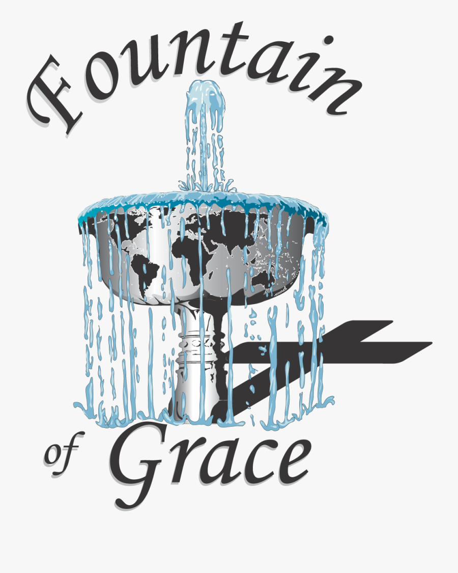 Fountain Of Grace Logo - World With Fountain Logo, Transparent Clipart