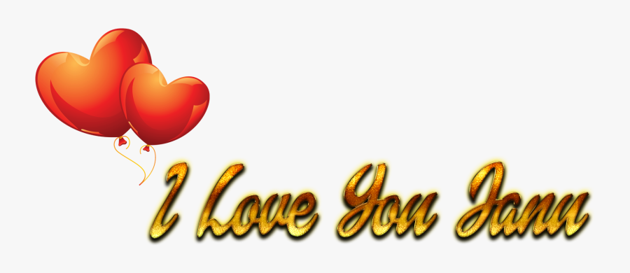 I Love You Janu Name Wallpaper Clipart Png Download Heart