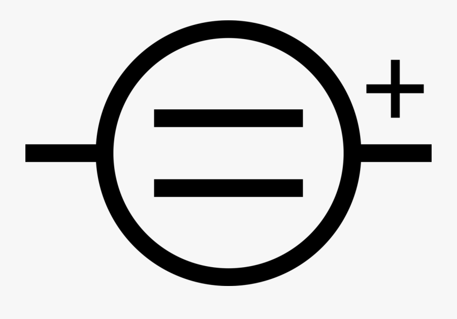 Angle,area,text - Symbol Of Dc Power Supply, Transparent Clipart