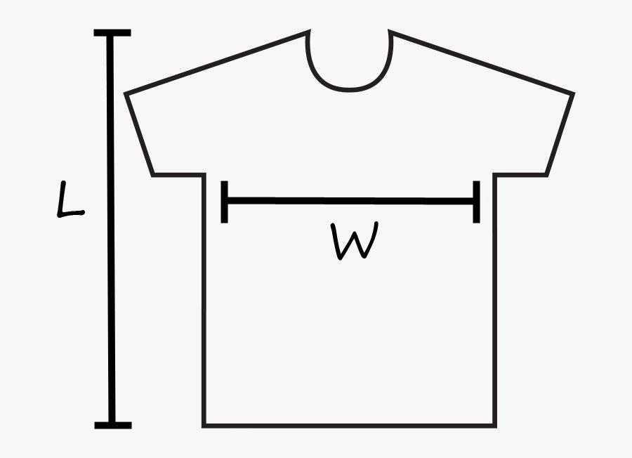 Transparent T Shirt Outline Clipart - T Shirt Sizing Chart Template, Transparent Clipart