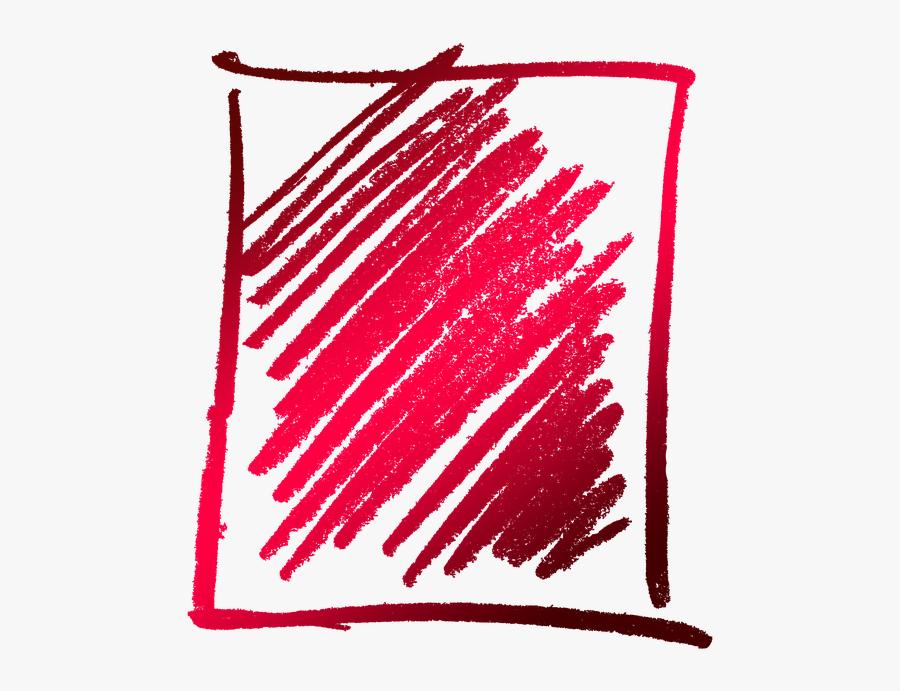 Box, Hatch, Doodle, Frame, Scratches, Oblique - Frame Boxes Png, Transparent Clipart